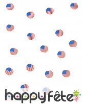 150 confettis de table drapeaux USA, image 3