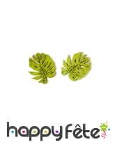 10 Confettis feuilles des tropiques en bois, 4 cm