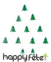 10g de confettis sapin de Noël vert