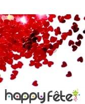 14g de confettis en forme de coeur rouge