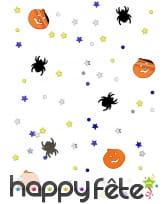 14gr de confettis de table araignée et citrouille