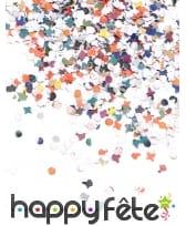 1Kg de confettis en papier multicolore