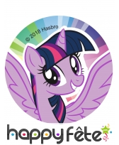 12 Décos pour biscuits My Little Pony, 6 cm, sucre, image 1