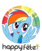 12 Décos pour biscuits My Little Pony, 6 cm, sucre, image 3