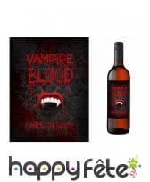 10 Etiquettes Vampire blood pour bouteille