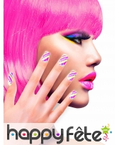 12 Faux ongles longs pointus adhesifs femme, image 23
