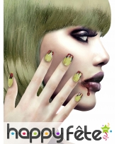 12 Faux ongles longs pointus adhesifs femme, image 25