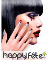 12 Faux ongles longs pointus adhesifs femme, image 28