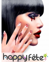 12 Faux ongles longs pointus adhesifs femme, image 29