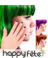 12 Faux ongles motifs Halloween pour enfant