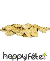 100 fausses pièces d'or de 35mm