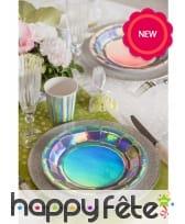 10 Gobelets argentés iridescents en carton, image 1