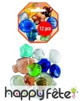 12 galets colorés de décoration