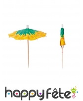 12 parasols à cocktail de 10 cm