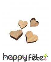 12 petits coeurs en bois de 3 et 2cm, image 1