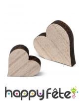 12 petits coeurs en bois de 3 et 2cm