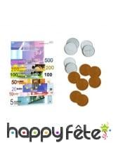 12 pièces et 24 billets d'euros