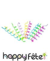10 pailles multicolores en spirale de 20 cm