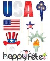 13 photobooth sur le thème de l'Amérique