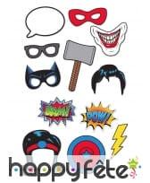 12 photobooth thème Super-héros BD