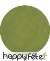 10 sets de table vert kiwi ronds