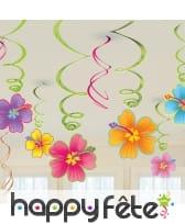 12 suspensions fleurs décoratives