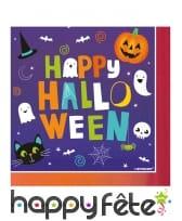 16 Serviettes Happy Halloween, pour enfant