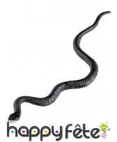 12 Serpents noirs de 12cm