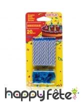 20 bougies d'anniversaire avec bobèches, image 2