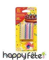 20 bougies d'anniversaire avec bobèches, image 3