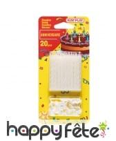 20 bougies d'anniversaire avec bobèches, image 1