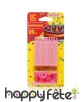 20 bougies d'anniversaire avec bobèches, image 4