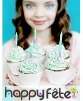 20 Bougies d'anniversaire coloris sirène, 6cm, image 2