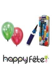25 Ballons de baudruche métalliques avec pompe