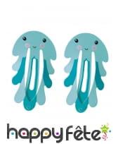 2 Barettes pour cheveux sur le thème de la mer, image 1