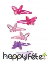 2 Barrettes papillon pour petite fille