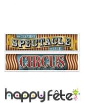 2 banderoles Vintage sur le thème du cirque, 150cm