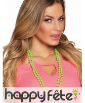 2 Colliers de perles plastique fluo pour femme, image 1