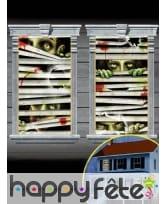 2 Décors de fenêtres stores et Zombies