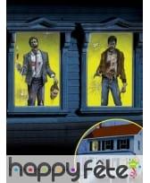 2 Décors de fenêtres Zombies sur fond vert