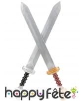 2 épées de gladiateur pour enfant, 57cm