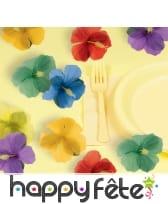 24 fleurs hawaïennes multicolores en tissu, image 1