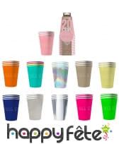 20 gobelets USA en carton recyclable de 53 cl