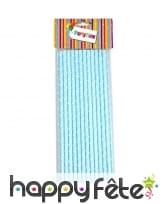 25 pailles en papier à pois blancs, image 2