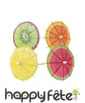 20 Parasols imprimé fruit pour cocktails