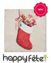 20 Petites serviettes chaussettes de Noël
