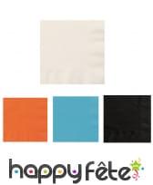 20 petites serviettes en papier de 25 cm