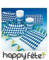 20 serviettes blanche et bleue Oktoberfest