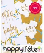 20 Serviettes en forme de body pour bébé, image 1