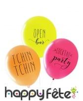 "3 Ballons ""Apéro"" biodégradable de 27cm"